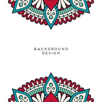Mandaladesign auf weißem leerem hintergrund