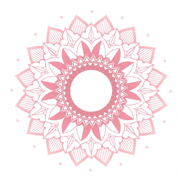 Mandalaentwurf auf rosa farbe