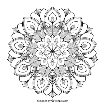 Mandalahintergrund in der linearen art