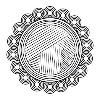 Mandalakunst lokalisierte ikonenvektor-illustrationsdesign