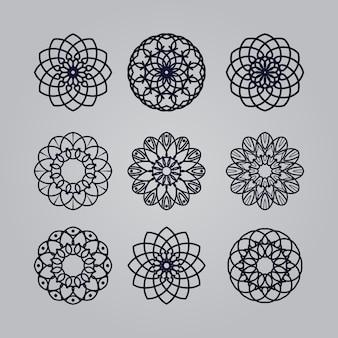 Mandalakunstverzierung mit blumenethnisch