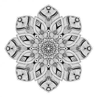 Mandalamalbuch, orientalische therapie, yoga-logos vektor.