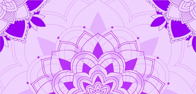 Mandalamuster auf purpurrotem hintergrund