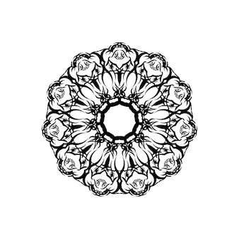 Mandalas. ethnische dekorative elemente. handgezeichneter hintergrund. islam, arabisch, indisch, osmanische motive.