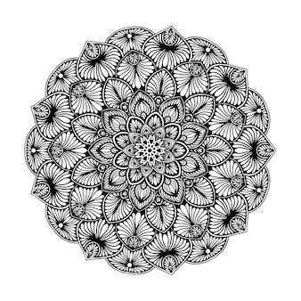 Mandalas malbuch, orientalische therapie, yoga-logos vektor.