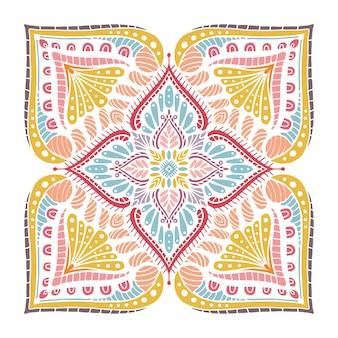 Mandalas malbuch, orientalische therapie, yoga logos vektor.