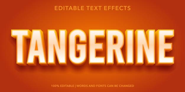 Mandarinenbearbeitbarer texteffekt
