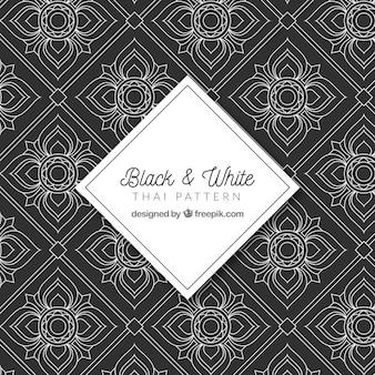 Mangel und weißes thailändisches muster mit elegantem design