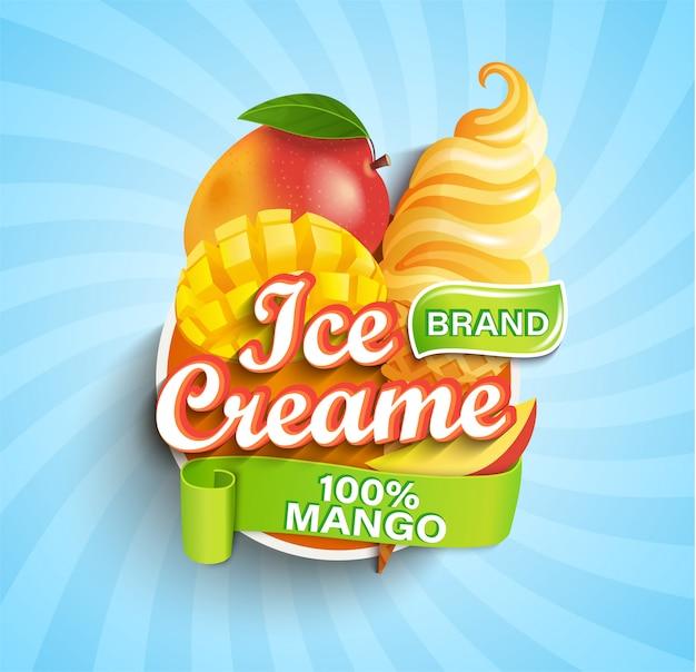 Mango-eis-etikett