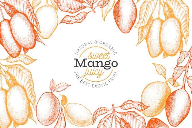 Mango-frame-vorlage