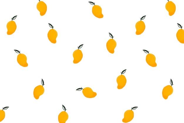 Mango-hintergrund-desktop-hintergrund, süßer sommervektor