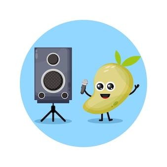Mango karaoke süßes charakterlogo