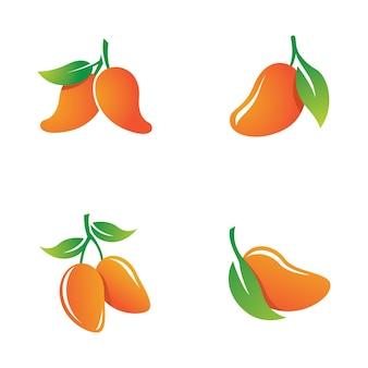 Mango logo set illustration design
