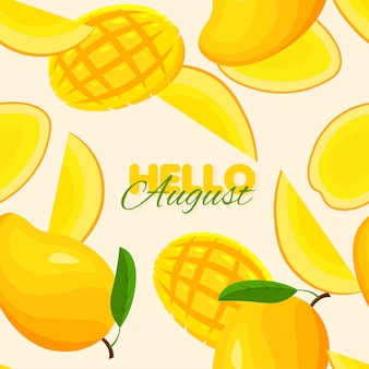 Mango nahtlose muster sommer