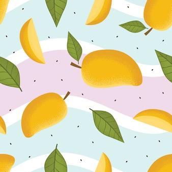 Mango nahtlose muster