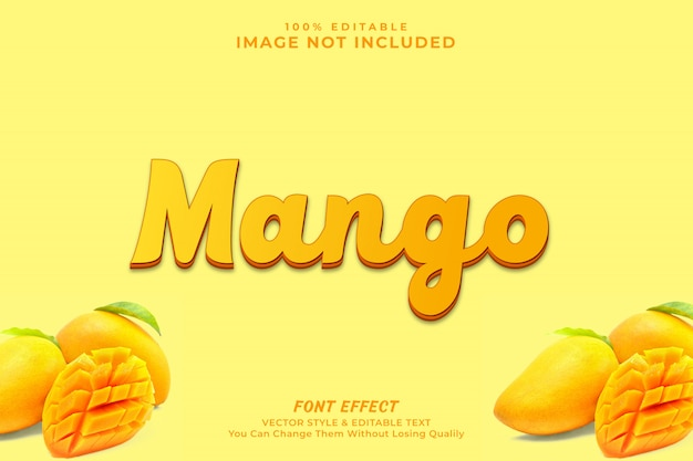 Mango text effekt premium