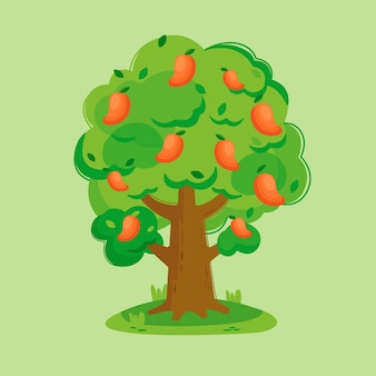 Mangobaumillustration