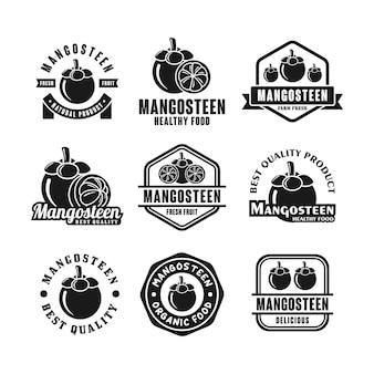Mangostan-abzeichen-design-logo-kollektion