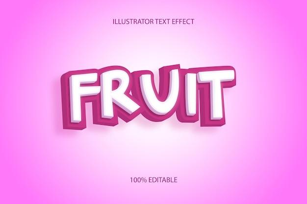 Mangostan-texteffekt oder fruchttexteffekt-stil