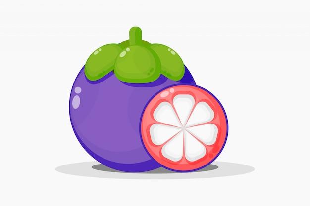 Mangostan- und mangostanfruchtscheiben