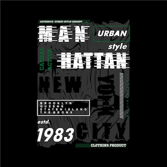 Manhattan grafische typografie t-shirt design illustration und andere verwendung