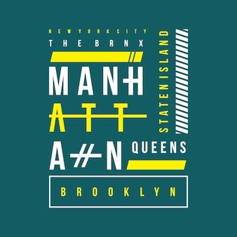 Manhattan-Typografie-T-Shirt Design