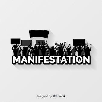 Manifestationszusammensetzung mit schattenbilddesign