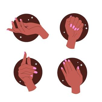 Maniküre hand sammlung design