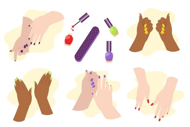 Maniküre hand sammlung
