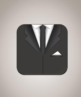 Mann anzug symbol vektor-illustration