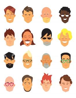 Mann-avatar-symbole