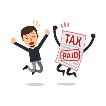 Mann bezahlte steuern