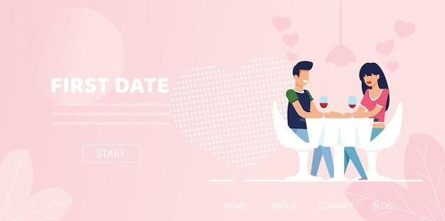 Mann frau flirt chat date dinner im restaurant