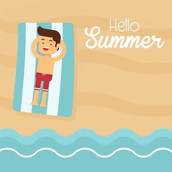 Mann gehen, in sommerferien zu reisen