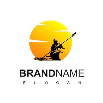 Mann im boot-logo