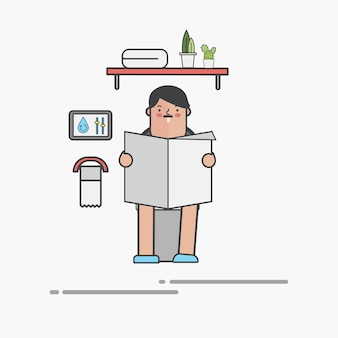 Mann im wc