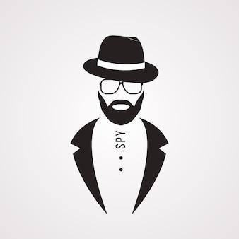 Mann mit anzughut und sonnenbrille