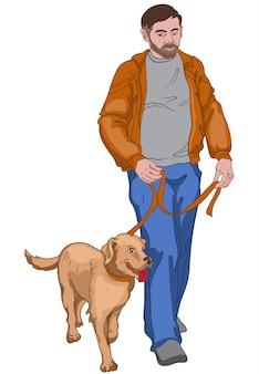 Mann mit ernstem gesichtsausdruck in brauner jacke