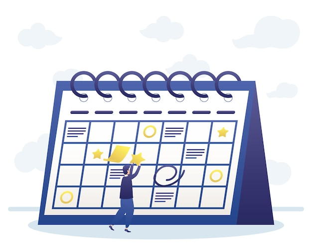 Mann mit kalenderplanung