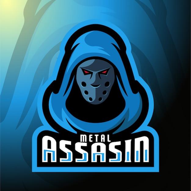 Mann mit mask maskottchen-logo.