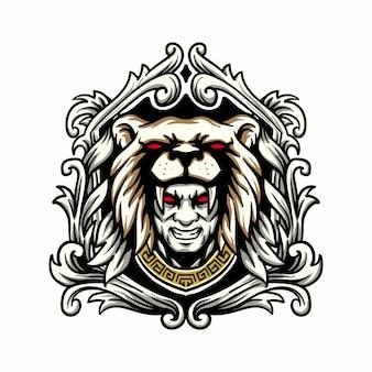 Mann mit tigermaskenillustration