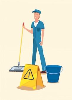 Mann reinigungsmittel und zubehör