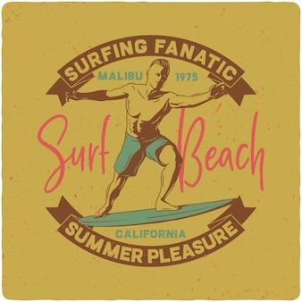 Mann reitet auf surfbrett