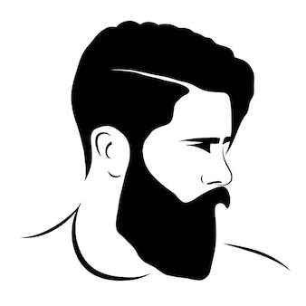 Mann silhouette hipster-stil
