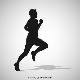 Mann silhouette läuft