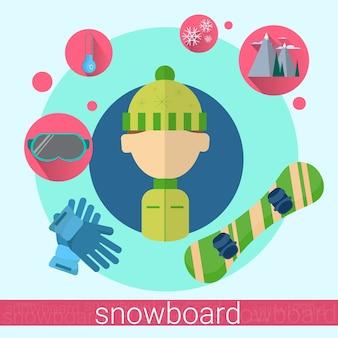 Mann snowboard-symbol