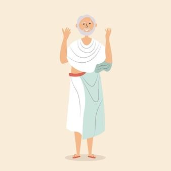 Mann soutane hält hände betet