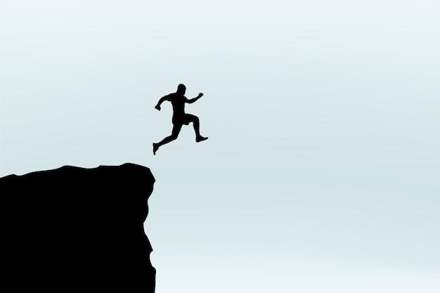 Mann springen silhouette