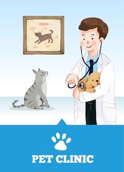 Mann tierarzt