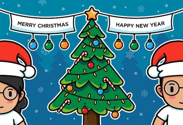 Mann und frau am weihnachtstag